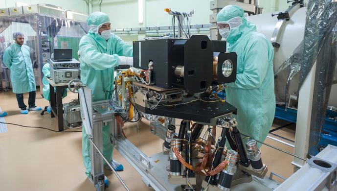 Instrument MERTIS sur l'orbiteur MPO de Bepicolombo